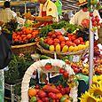 Fête de la tomate. Le marché. Stand de Madame Lamothe