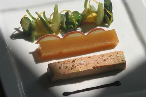 5 - IMG_foie gras de canard mi cuit, gelée de pomme du limousin, salade de légumes aux agrumes
